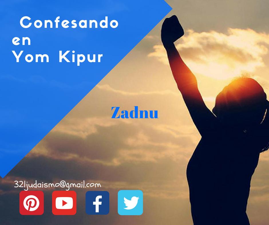 Zadnu Los pecados de Yom Kipur