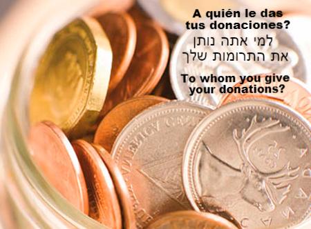 A quién le das tus donaciones?