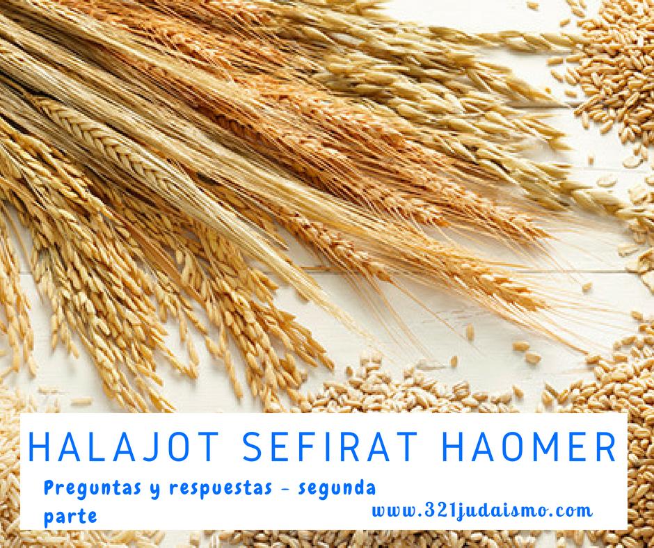 Halajot sobre Sefirat HaOmer
